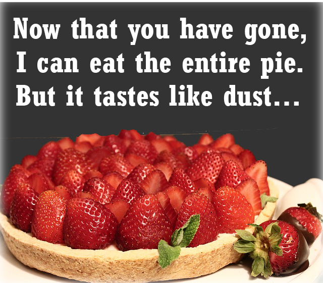 pie and dust